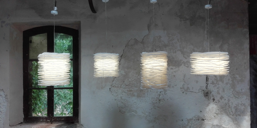 Lampe millefeuille suspension 32, 38, 45