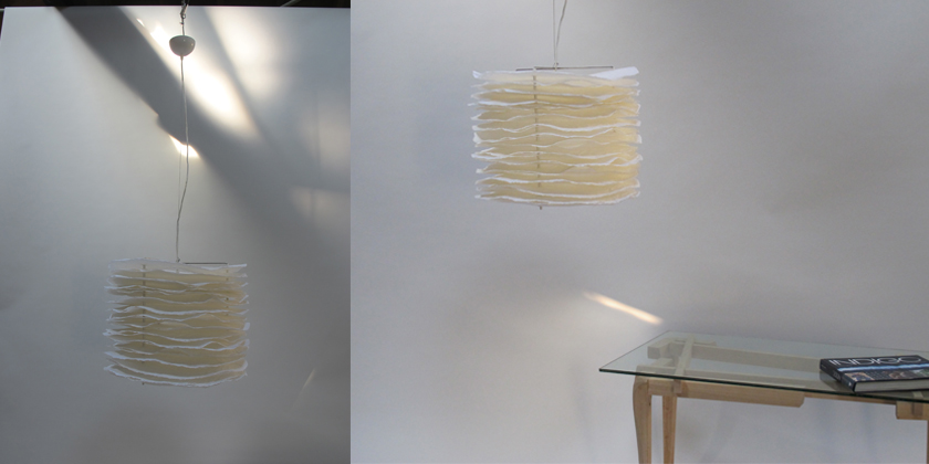 Lampe millefeuille suspension 50
